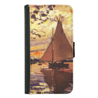 Claude Monet-Segelboot bei Le Klein-Gennevilliers Geldbeutel Hülle Für Das Samsung Galaxy S5