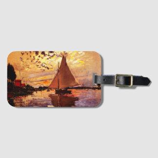 Claude Monet-Segelboot bei Le Klein-Gennevilliers Gepäckanhänger