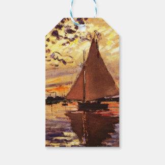 Claude Monet-Segelboot bei Le Klein-Gennevilliers Geschenkanhänger