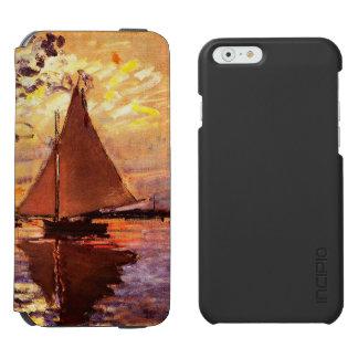 Claude Monet-Segelboot bei Le Klein-Gennevilliers Incipio Watson™ iPhone 6 Geldbörsen Hülle