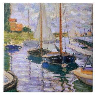 Claude Monet - Segelboote auf der Seine Keramikfliese