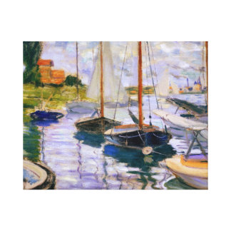 Claude Monet - Segelboote auf der Seine Leinwanddruck