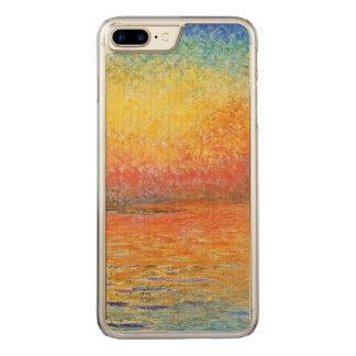 Claude Monet-Sonnenuntergang in der Carved iPhone 8 Plus/7 Plus Hülle