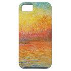 Claude Monet-Sonnenuntergang in der iPhone 5 Schutzhülle