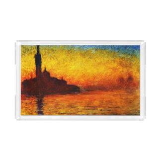 Claude Monet-Sonnenuntergang in Venedig Acryl Tablett