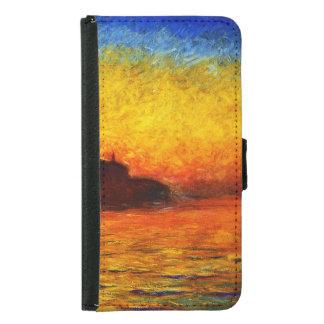 Claude Monet-Sonnenuntergang in Venedig Samsung Galaxy S5 Geldbeutel Hülle