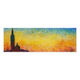 Claude Monet-Sonnenuntergang in Venedig Visitenkarte