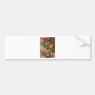 Claude Monet-Stillleben mit Anemonen-Schicksals-Ge Auto Aufkleber