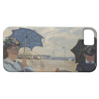 Claude Monet-Strand-Szene iPhone 5 Schutzhülle