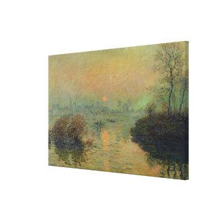 Claude Monet | Sun, der über die Seine einstellt Leinwanddruck