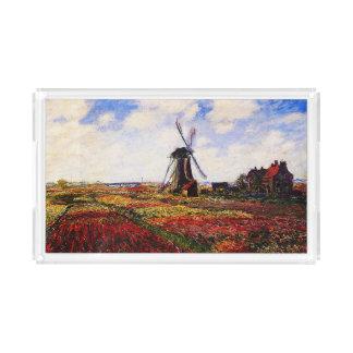 Claude Monet-Tulpen Felder Acryl Tablett