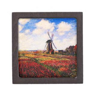Claude Monet-Tulpen Felder Schachtel