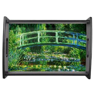 Claude Monet-Wasser-Lilie Teich Serviertablett