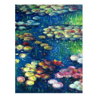 Claude Monet: Wasser-Lilien 3 Postkarten
