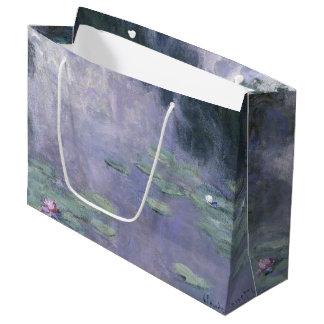 Claude Monet-Wasser-Lilien Nymphéas 1907 GalleryHD Große Geschenktüte