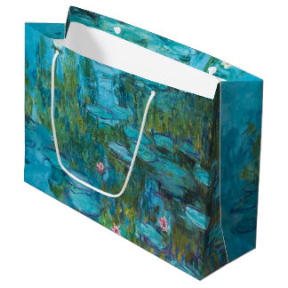 Claude Monet-Wasser-Lilien Nymphéas GalleryHD Große Geschenktüte