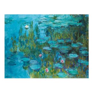 Claude Monet-Wasser-Lilien Nymphéas GalleryHD Postkarte