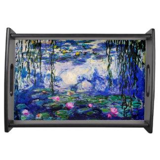 Claude Monet-Wasser-Lilien Serviertablett