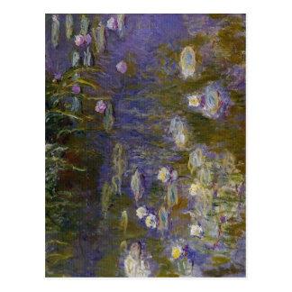 Claude Monet Wasser-Lilien Technik-Öl 1914-1917 Postkarte