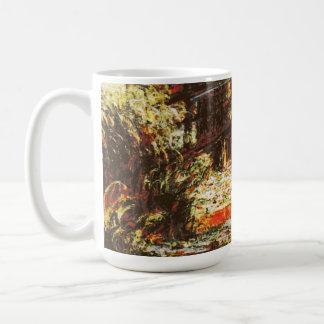 Claude Monet - Wasser-Lilien und Japaner Footbridg Kaffeetasse