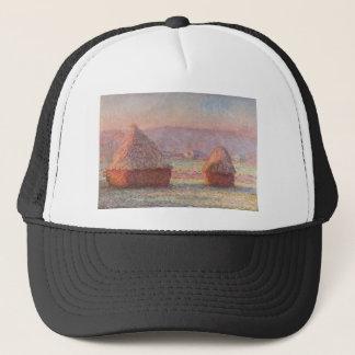 Claude Monet - weißer Frost-Sonnenaufgang Truckerkappe