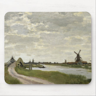 Claude Monet - Windmühlen nähern sich Zaandam Mauspad