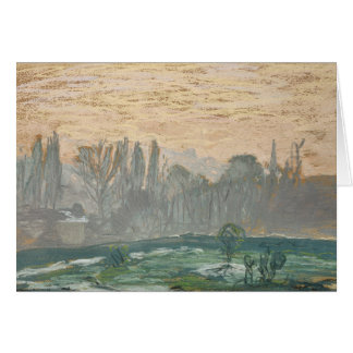 Claude Monet - Winter-Landschaft mit Abends-Himmel Karte