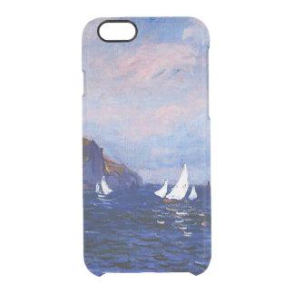 Claudec$monet-klippen und -Segelboote bei Durchsichtige iPhone 6/6S Hülle