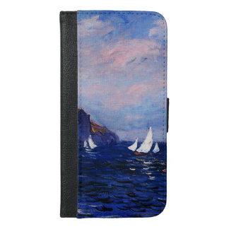 Claudec$monet-klippen und -Segelboote bei iPhone 6/6s Plus Geldbeutel Hülle