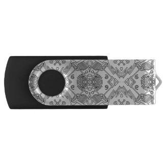 Clé usb motif pop black and white USB stick
