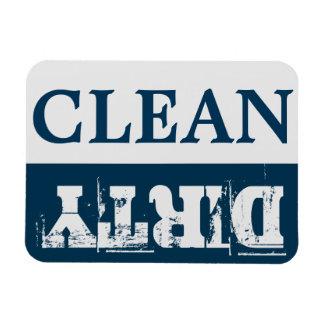 CLEAN-DIRTY Spülmaschinen-Magnet - Flex - 4 Magnete