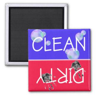 CLEAN-DIRTY Spülmaschinen-Magnet Quadratischer Magnet