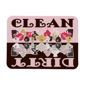 CLEAN-DIRTY Spülmaschinen-Magnet - Retro Flex 2