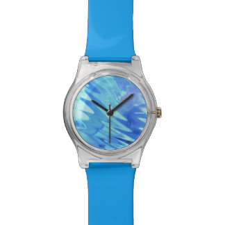 """clear ice-blue moments"" watches"