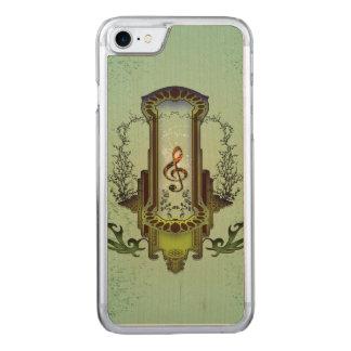 Clef auf dekorativem Knopf Carved iPhone 8/7 Hülle