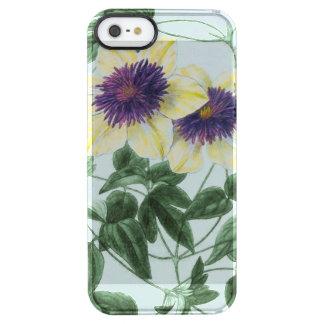 Clematis-Blumen-Kunst Durchsichtige iPhone SE/5/5s Hülle