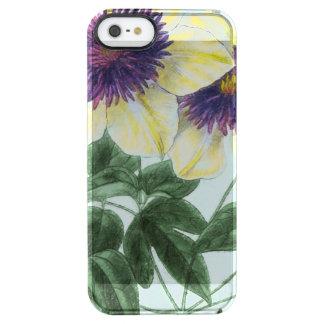 Clematis-Blumenkunst Durchsichtige iPhone SE/5/5s Hülle
