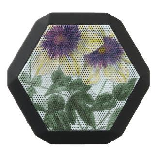 Clematis-Blumenkunst Schwarze Bluetooth Lautsprecher