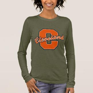Cleveland-Buchstabe Langarm T-Shirt