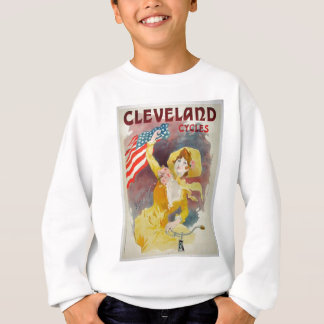 Cleveland fährt alte Anzeige rad Sweatshirt