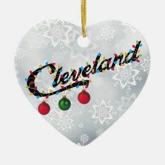 Cleveland in Licht-Shirt Verzierung Keramik Ornament