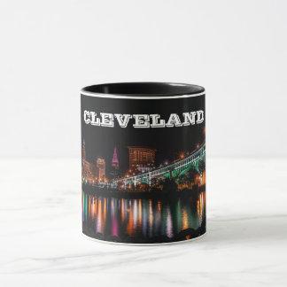 Cleveland-Nachtpanorama-Tasse Tasse