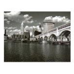 Cleveland Ohio Schwarzweiss Postkarten