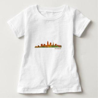 cleveland Ohio USA Skyline City v01 Baby Strampler