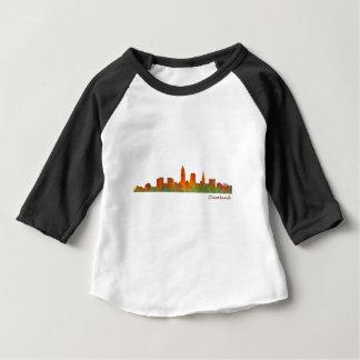 cleveland Ohio USA Skyline City v01 Baby T-shirt