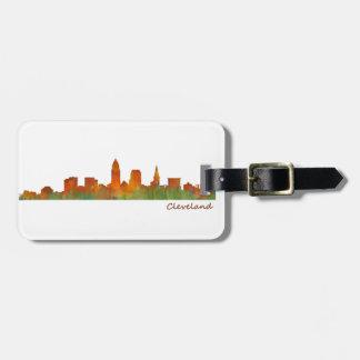 cleveland Ohio USA Skyline City v01 Gepäckanhänger