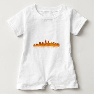 cleveland Ohio USA Skyline City v02 Baby Strampler
