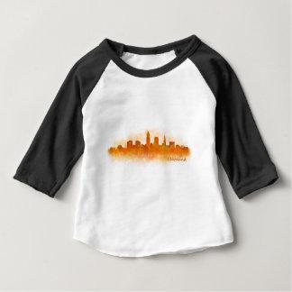 cleveland Ohio USA Skyline City v03 Baby T-shirt