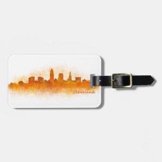 cleveland Ohio USA Skyline City v03 Kofferanhänger
