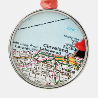 Cleveland Silbernes Ornament